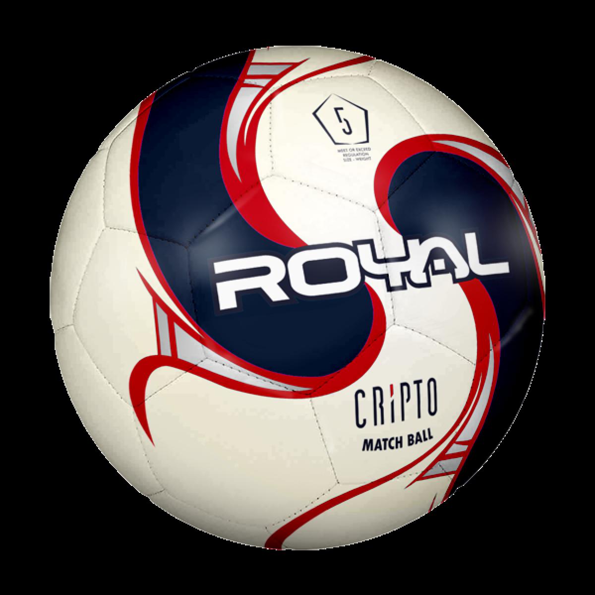 Royal Cripto fodbold rød 5