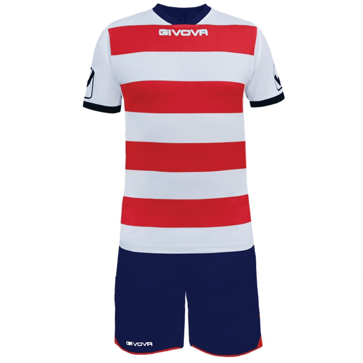 Kit Rugby hvid rød mørkeblå