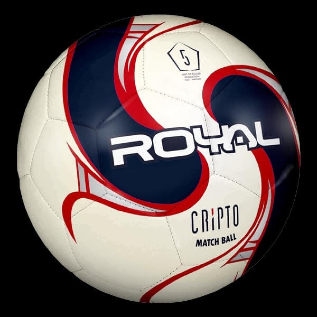 Royal Cripto fodbold blå