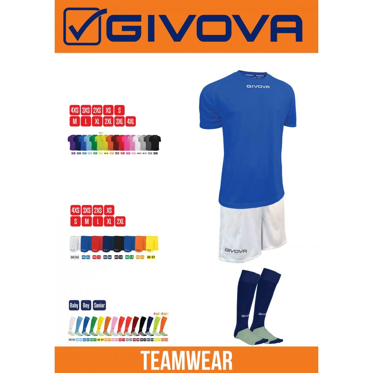 Kit Givova One Holdsæt 6