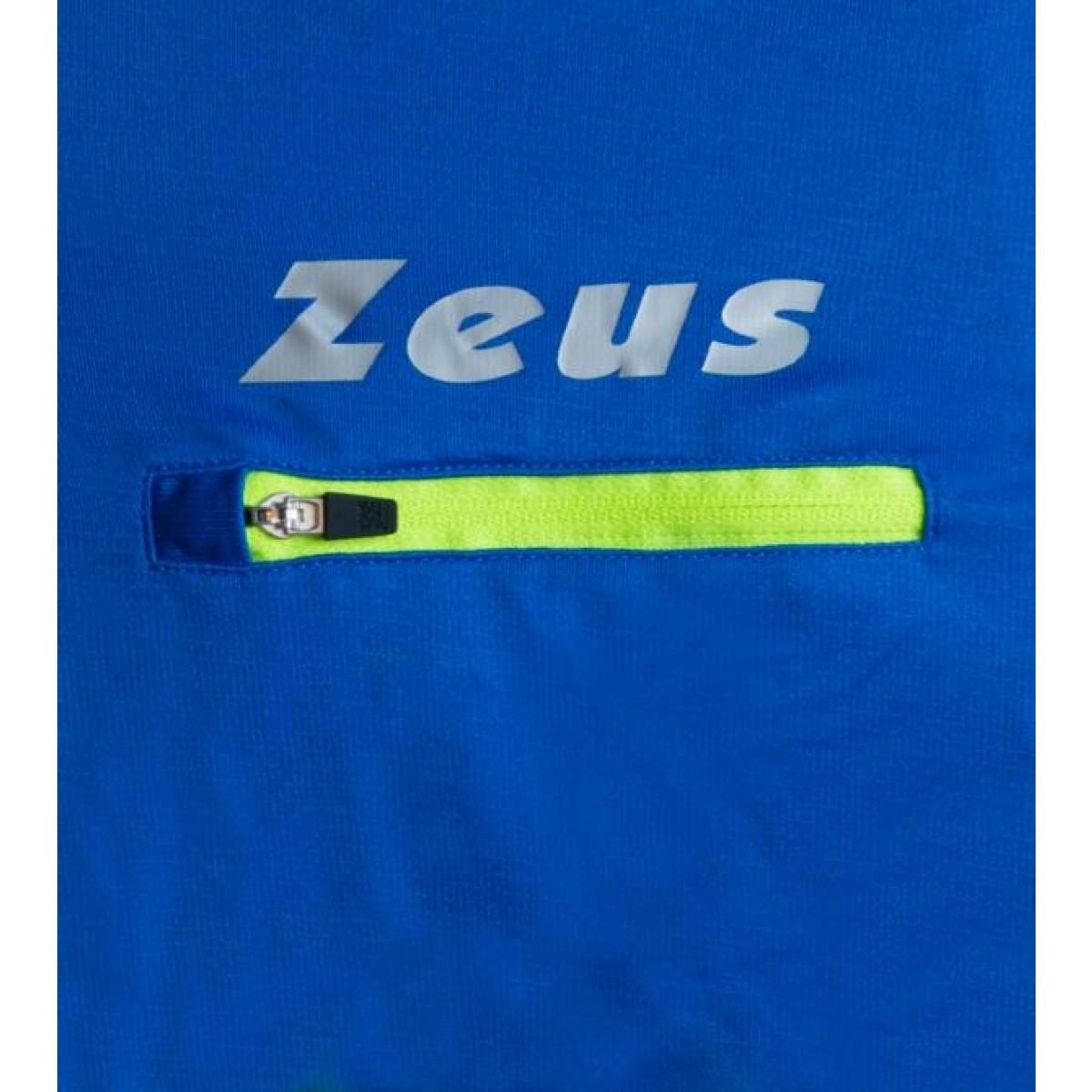 Zeus Atlante kortaermet loebetroeje blaa neon gul hvid