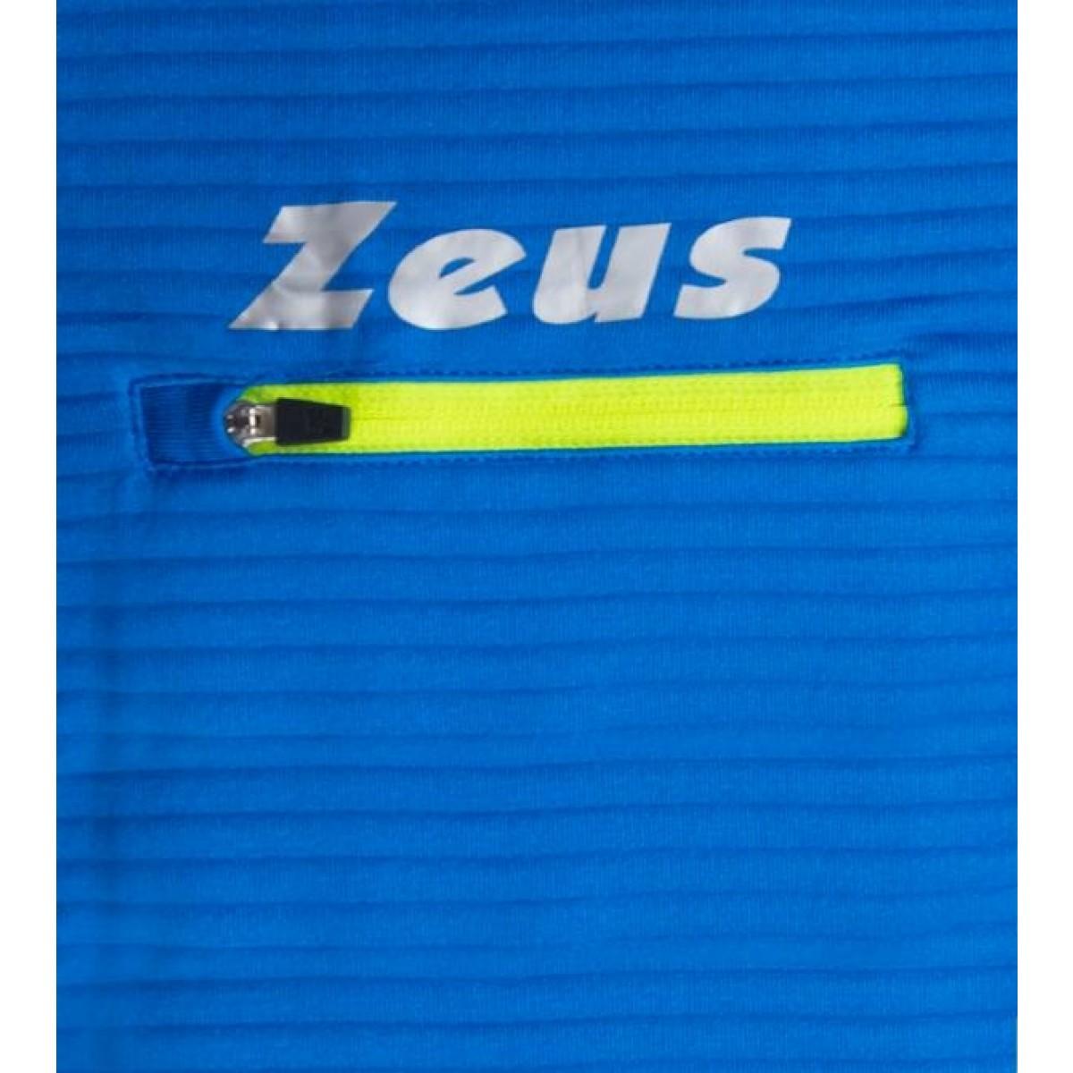 Zeus Atlante langaermet loebetroeje blaa neon gul hvid