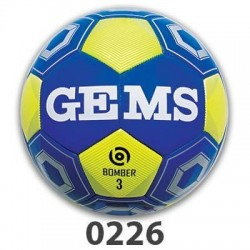 GEMS Bomber 3 Fodbold blaa neon gul