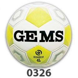 GEMS Bomber 4 Light fodbold hvid neon gul