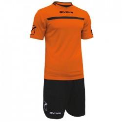 Givova Kit One spillesaet orange sort