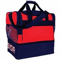 Givova Medium sportstaske rød mørkeblå